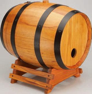 2 tonneaux bois pour bib 3l-5l